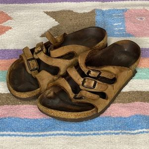 Birkenstock Florida 3 Strap Sandals Leather Slip